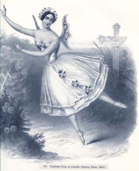 "Carlotta Grisi  in ""Giselle"". Litography by J.Brandard. 1841."