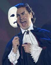 "Phantom from Russian show production ""Musical.RU"" Lloyd Webber's ""The Phantom of the Opera"""