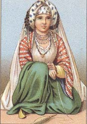 Female costume of Persia of 19-th centuty.