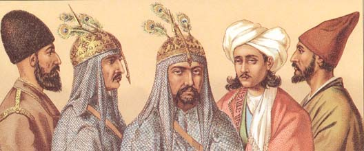 Male costumes of Persia of 19-th centuty.