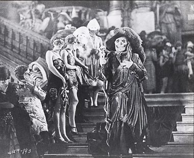 Lon Chaney as Red Death. Masquerade in the Opera House.