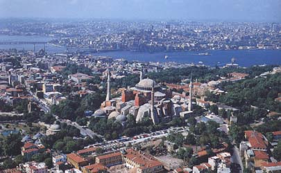 Historical center of Stambul. Modern photo.