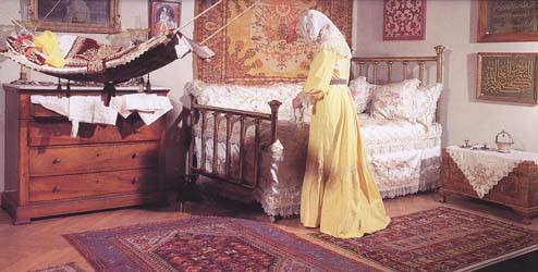 Interior of Turkish home of the end of 19-th - beginning of 20-th century.