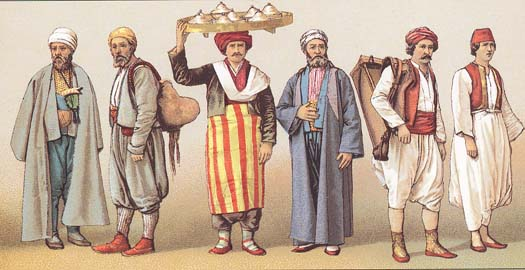 Male costumes of Turkey of 19-th centuty.
