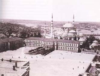 Mosque of Suleiman. Stambul. Old photo.