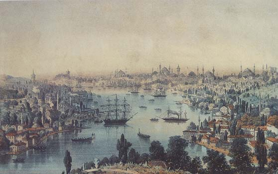Engraving of 19th century. Stambul.