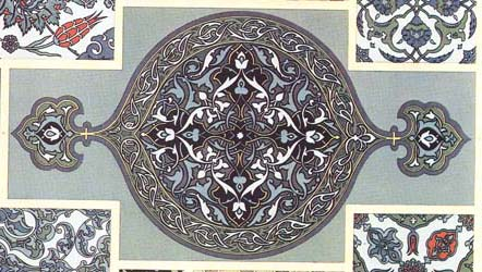Turkish ceramic tile.