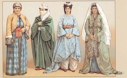 Female costumes of Turkey of 19-th centuty.
