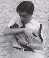 Young Andrew & cat Perseus